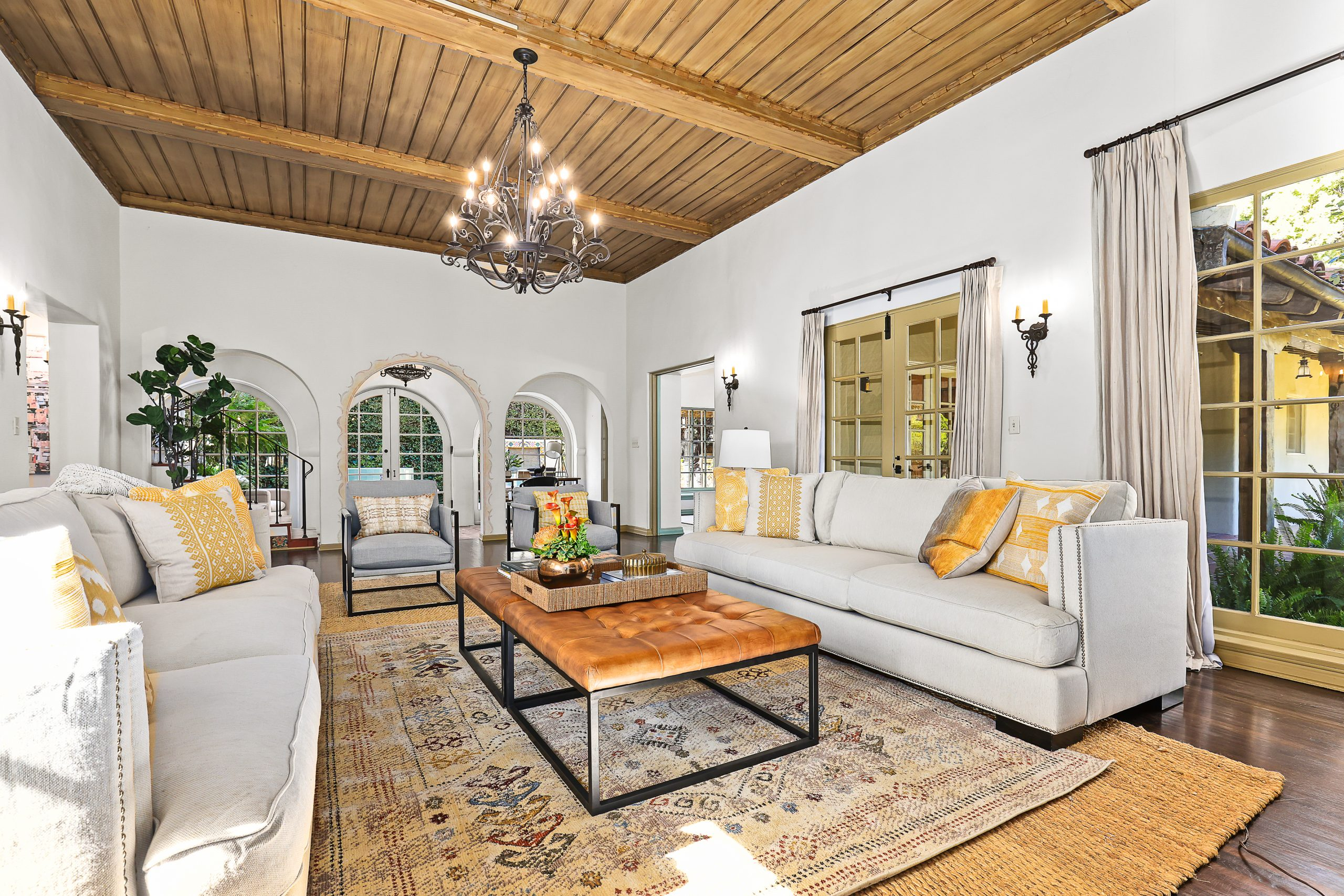 Spanish Revival Home Staging Living Room