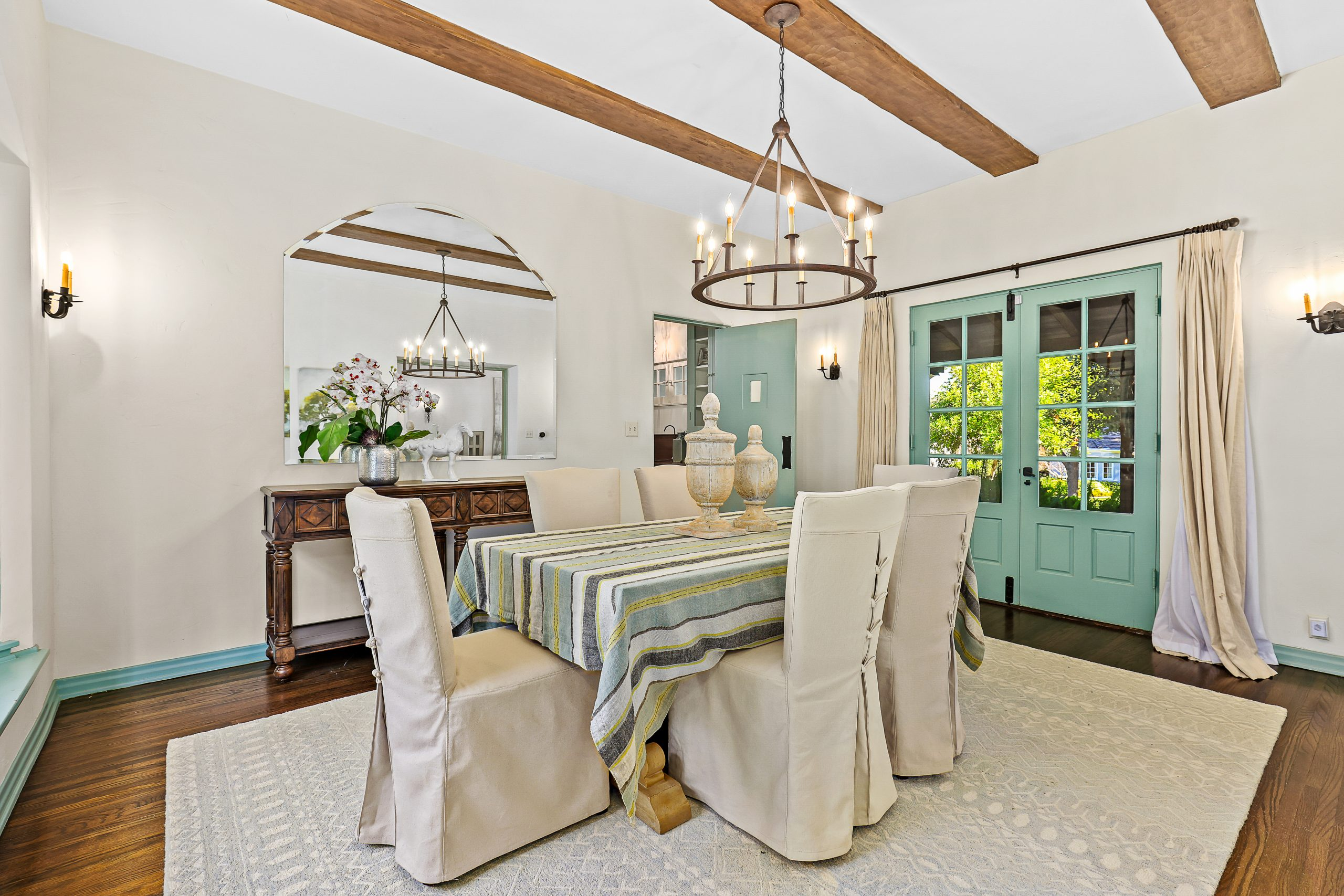 Spanish Revival Home Staging Dining Room